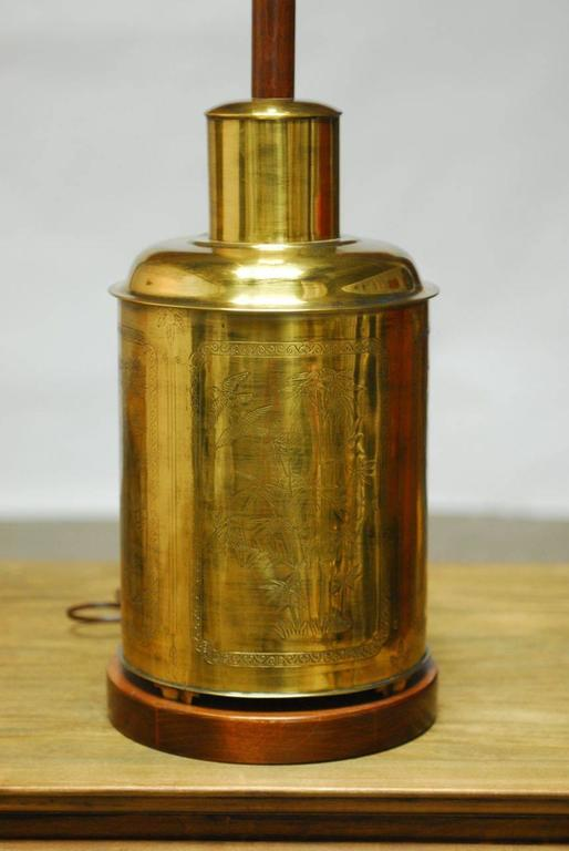 Chinese Brass Tea Canister Lamp For Sale At 1stdibs