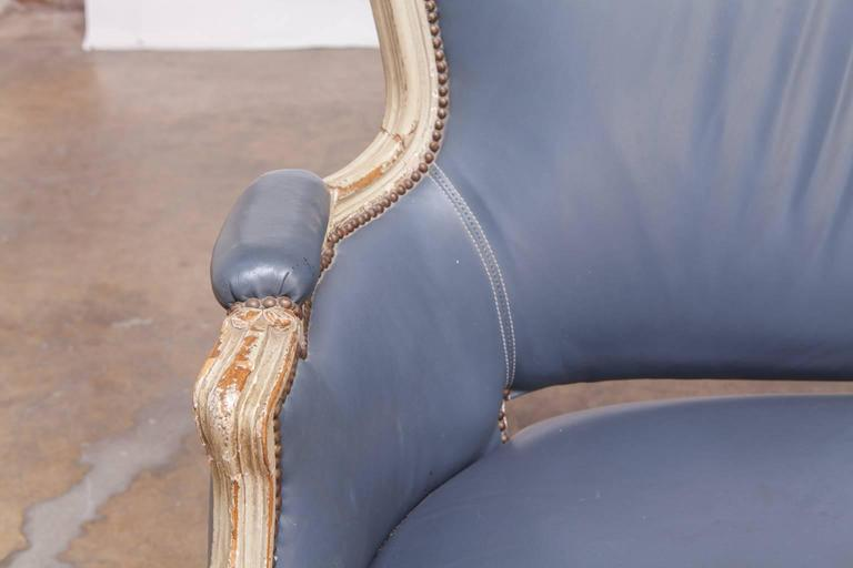 19th Century French Louis XV Painted Canapé for William Gaylord For Sale