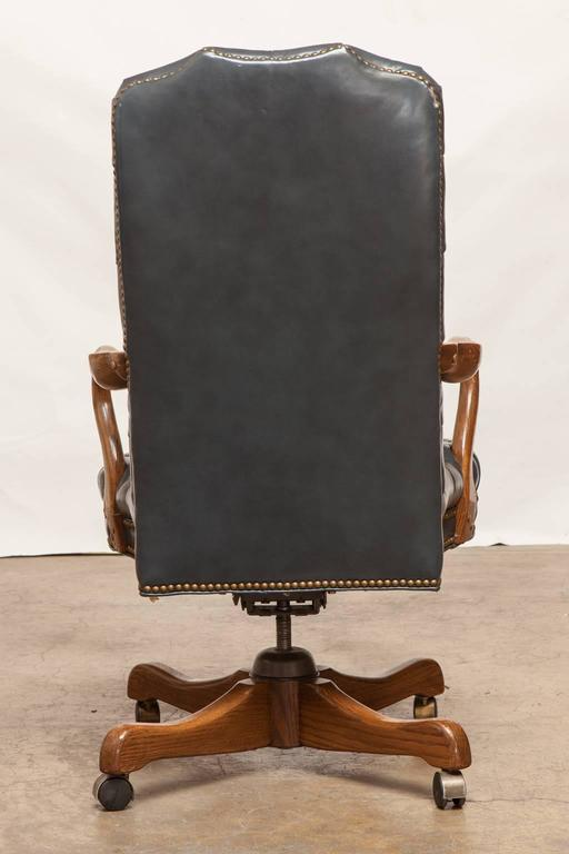 Fantastic Fine Tufted Leather Desk Chair By Schafer Brothers For Sale Machost Co Dining Chair Design Ideas Machostcouk