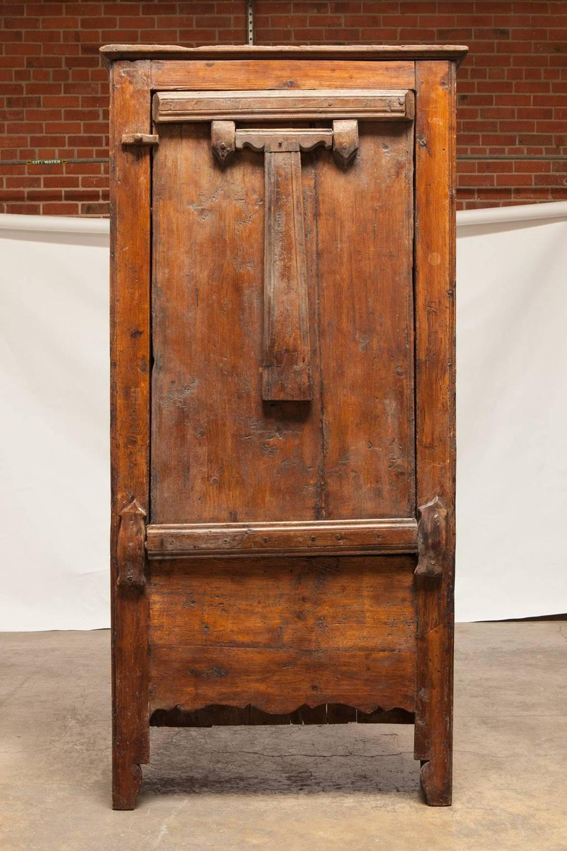 16th Century Primitive Dutch Cupboard Cabinet With Drop