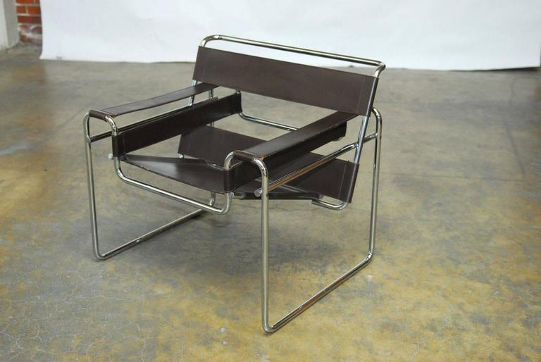 mid century wassily chair by marcel breuer for stendig at 1stdibs
