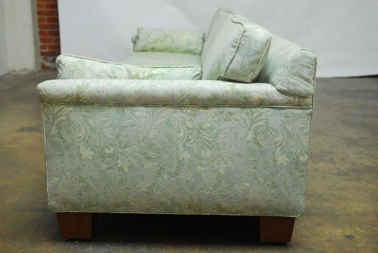 Mid-Century Modern Sofa Upholstered in Fortuny Style Fabric In Good Condition For Sale In Oakland, CA