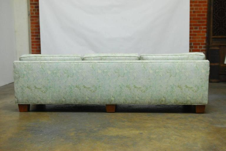 Mid-Century Modern Sofa Upholstered in Fortuny Style Fabric For Sale 5