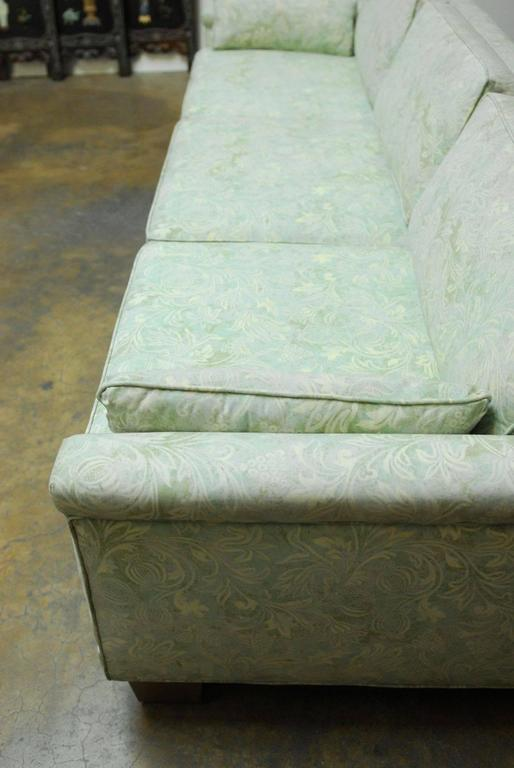 20th Century Mid-Century Modern Sofa Upholstered in Fortuny Style Fabric For Sale