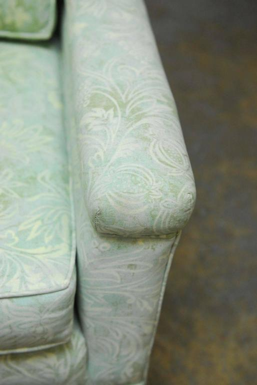 Mid-Century Modern Sofa Upholstered in Fortuny Style Fabric For Sale 2