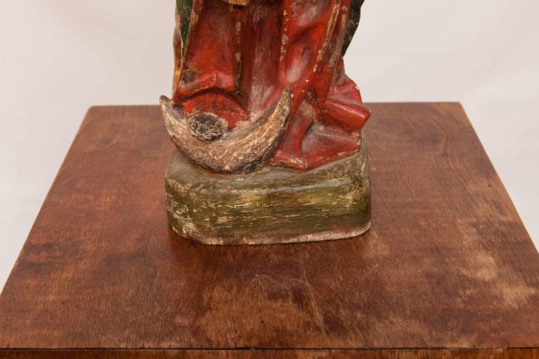 16th Century French Polychrome Madonna and Child  For Sale 3