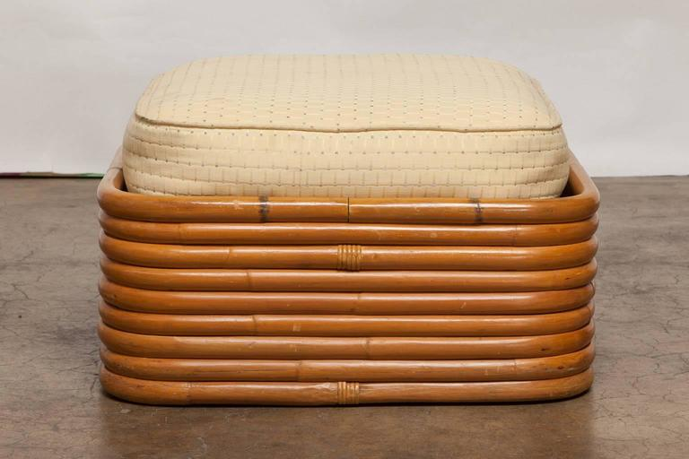 Stacked Rattan Ottoman by Paul Frankl 2