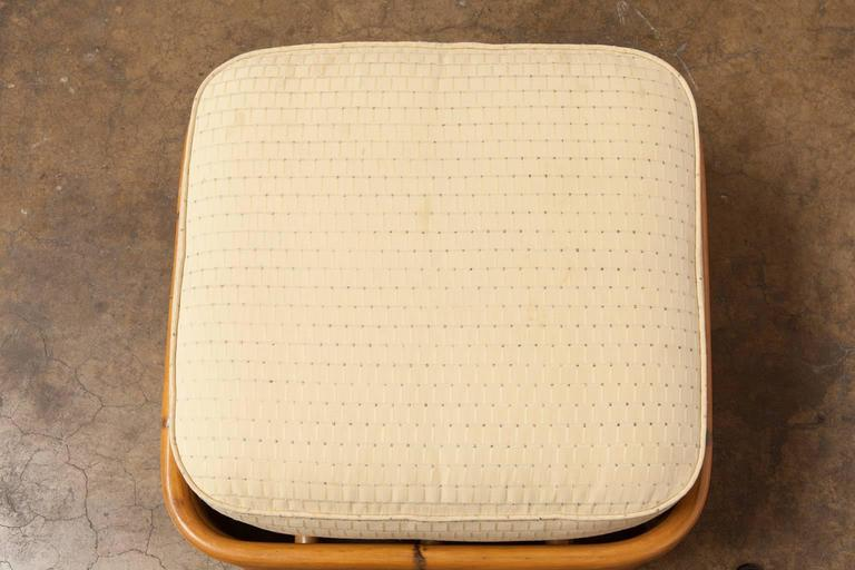 Stacked Rattan Ottoman by Paul Frankl 3