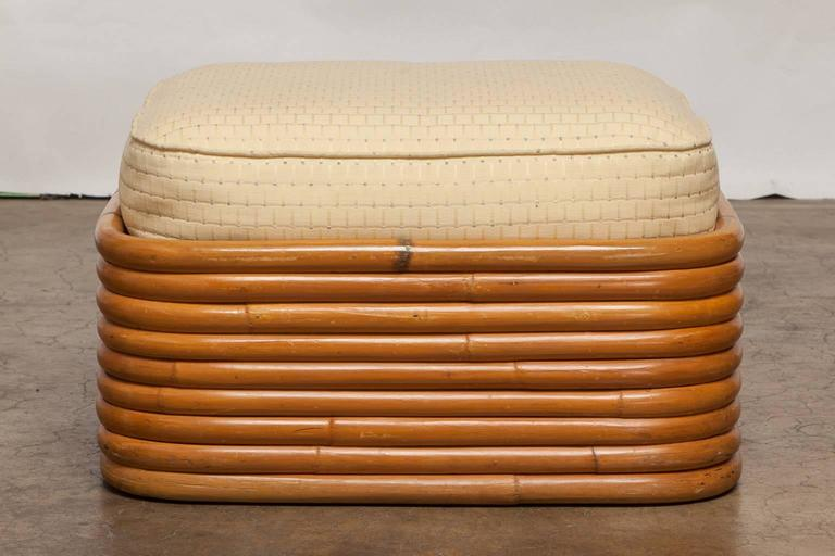 Stacked Rattan Ottoman by Paul Frankl 4