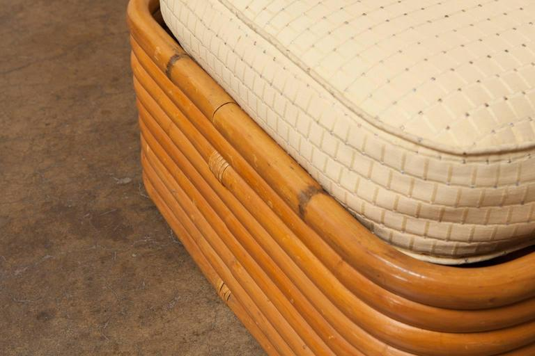 Stacked Rattan Ottoman by Paul Frankl 5