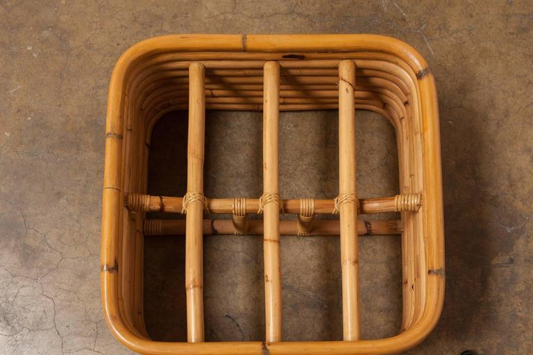Stacked Rattan Ottoman by Paul Frankl 6