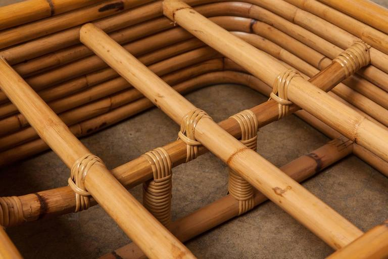 Stacked Rattan Ottoman by Paul Frankl 7