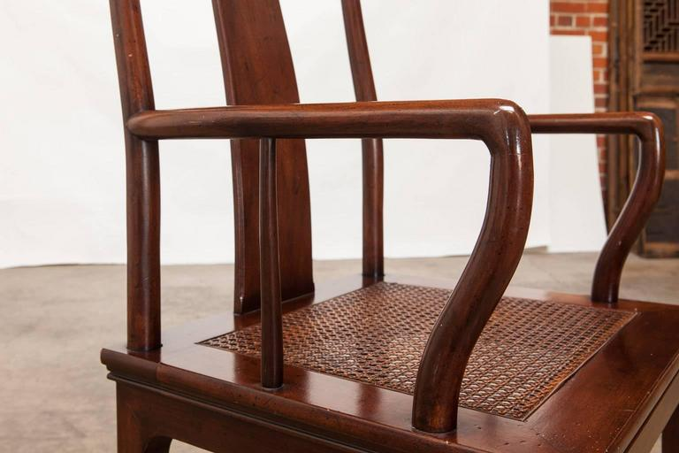 Beau Hand Crafted Set Of Four Chinese Ming Dining Chairs By Henredon For Sale