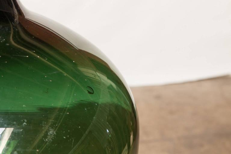 Napoleon III 19th Century French Green Glass Demijohn For Sale