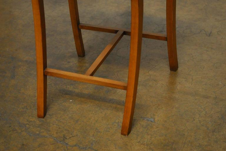 Pair of Italian Klismos Style Bar Stools with Rams Heads 9