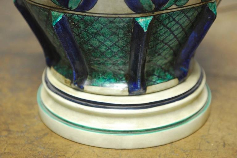 20th Century Italian Ceramic Faience Table Lamp by Marbro For Sale