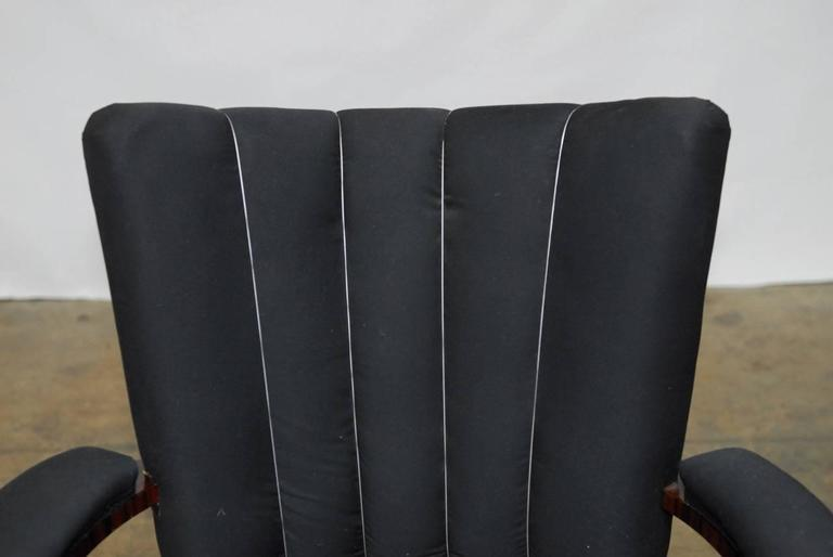 Pair of French Art Deco Macassar Club Chairs For Sale 1