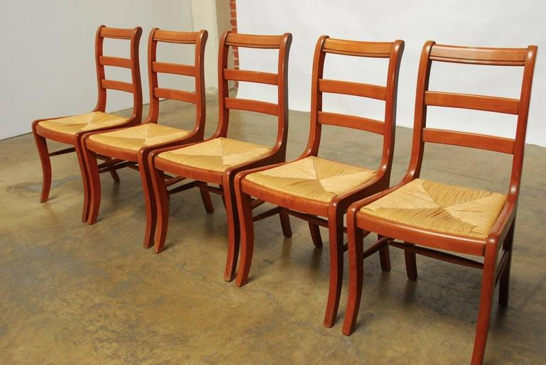 Large Set Of 45 Dining Chairs Made By Grange In France. Featuring A Classic  Klismos