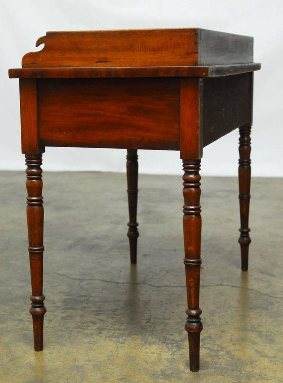 19th Century English Mahogany Writing Table For Sale 4