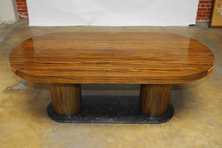 Modern Italian Zebrawood Conference Table or Dining Table For Sale 2