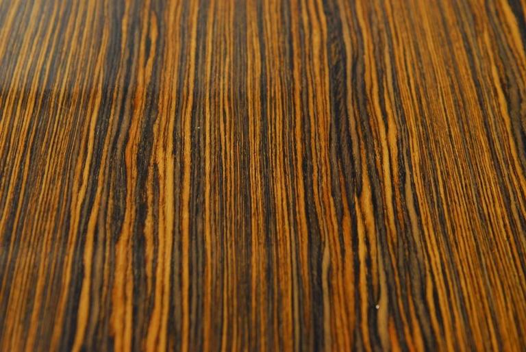 Modern Italian Zebrawood Conference Table or Dining Table For Sale 1