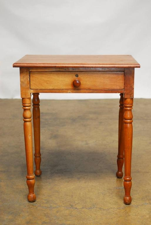 Diminutive Farm Table Or Desk Made In The Federal Style Constructed From  Mahogany With A Single