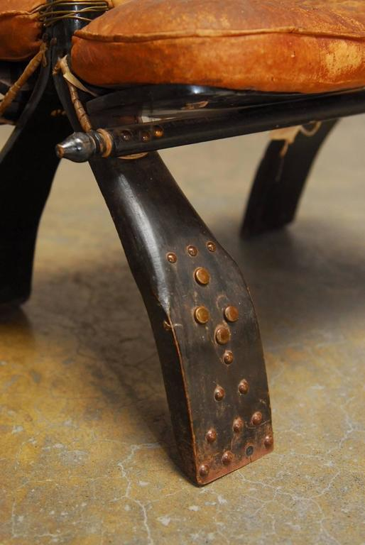Moroccan Leather Camel Saddle Stool At 1stdibs