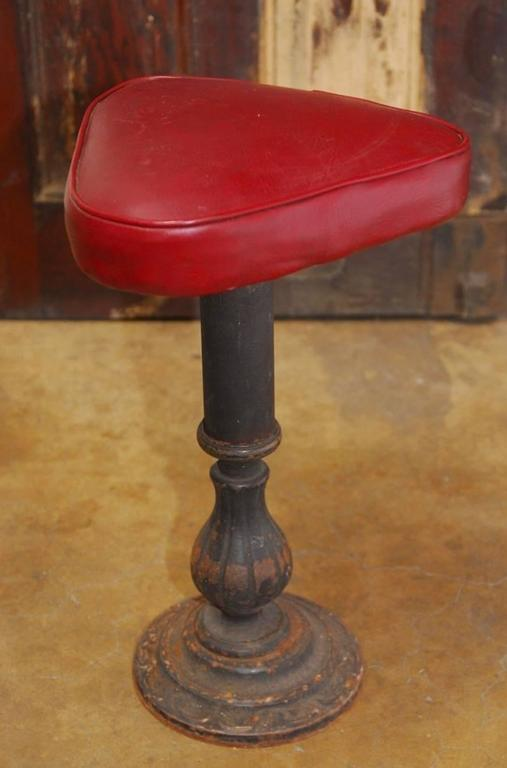 Set of Five Victorian Cast Iron Parlor Barstools 7