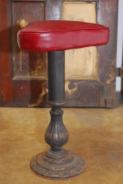 Set of Five Victorian Cast Iron Parlor Barstools 9