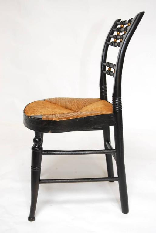 Pair Of 19th Century Ball Back Hitchcock Chairs At 1stdibs