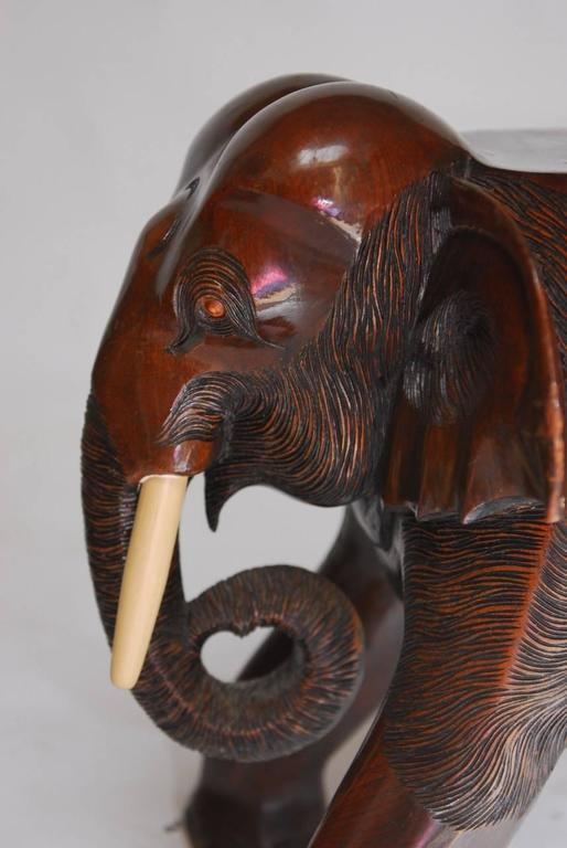 Set Of Four Elephant Stools Or Drink Tables At 1stdibs
