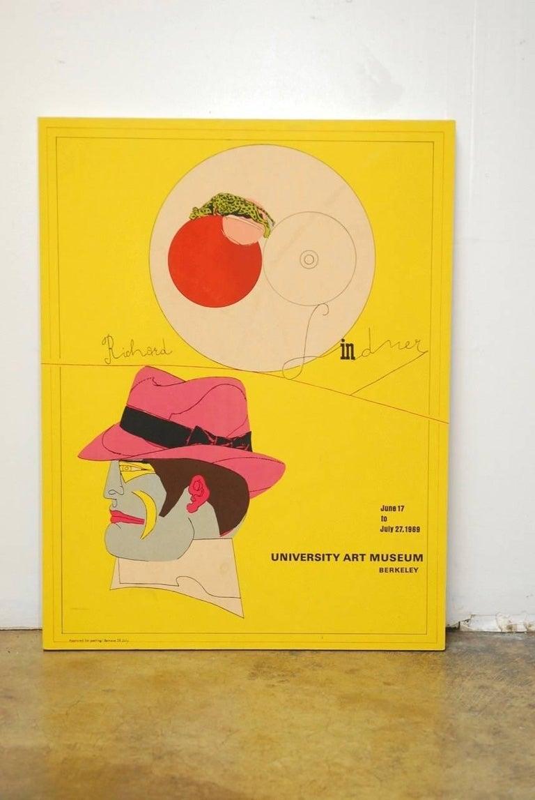 Modern Richard Lindner U.C. Berkeley Exhibition Poster, 1969