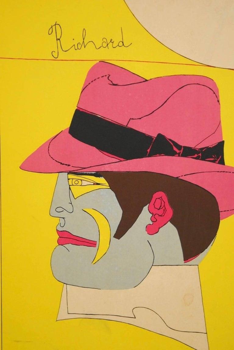 American Richard Lindner U.C. Berkeley Exhibition Poster, 1969