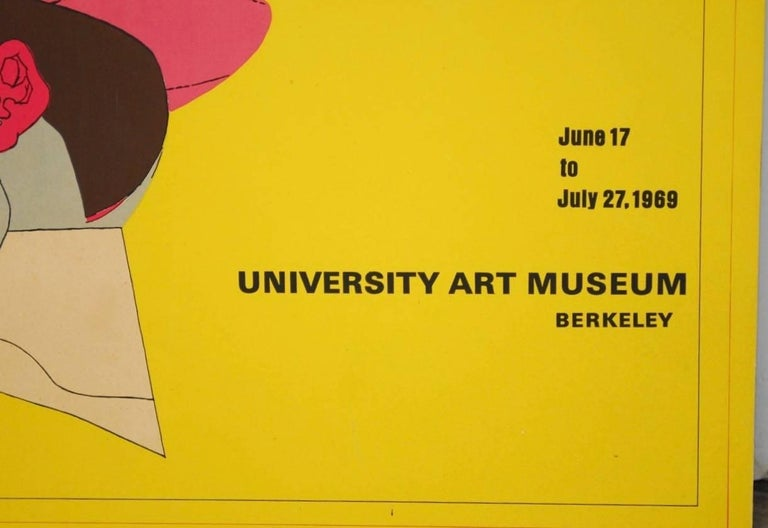 Richard Lindner U.C. Berkeley Exhibition Poster, 1969 In Excellent Condition For Sale In Oakland, CA