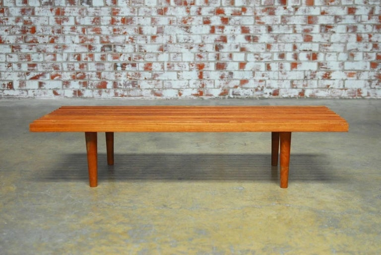 Outstanding George Nelson Style Low Slat Wood Bench Coffee Table Andrewgaddart Wooden Chair Designs For Living Room Andrewgaddartcom