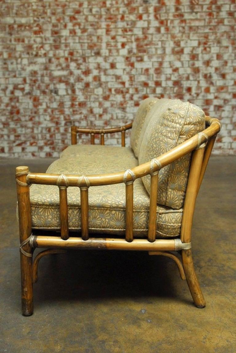 Organic Modern Bamboo Rattan Sofa By Mcguire At 1stdibs