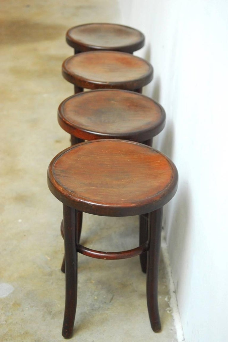bentwood bistro chair. Handsome Set Of Four Mundus Thonet Bentwood Bistro Stools By Gebruder Thonet. Made In Poland Chair