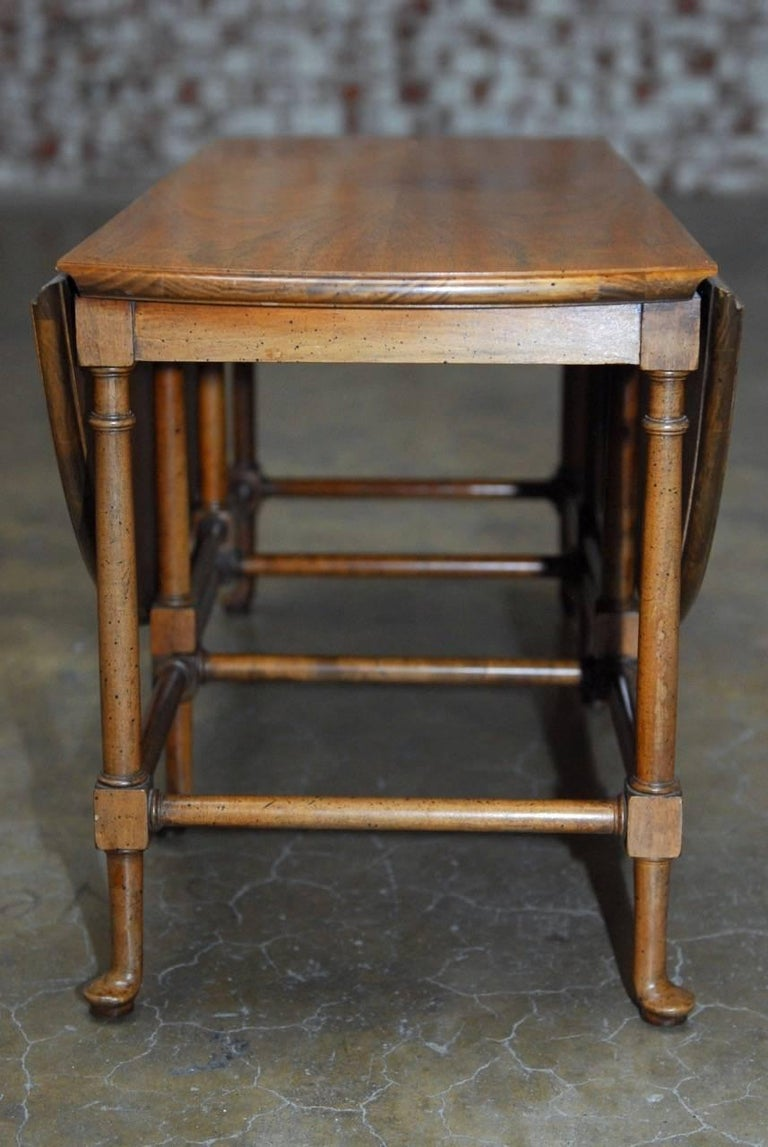 Queen Anne Style Mahogany Drop Leaf Coffee Table By Baker For Sale At 1stdibs