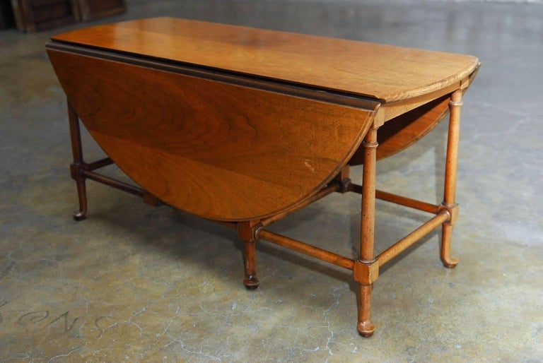 Queen Anne Style Mahogany Drop Leaf Coffee Table By Baker