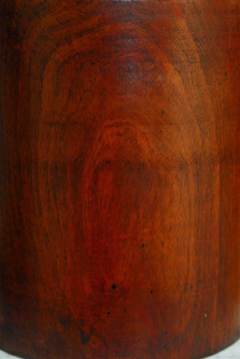 19th Century Monumental Chinese Carved Rosewood Brush Pot  For Sale 3