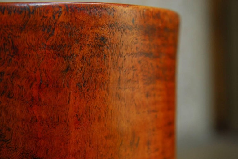 19th Century Monumental Chinese Carved Rosewood Brush Pot  For Sale 4