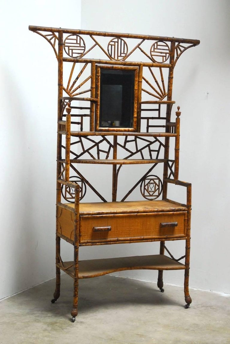 19th century english chinoiserie etagere dressing cabinet for sale at 1stdibs. Black Bedroom Furniture Sets. Home Design Ideas