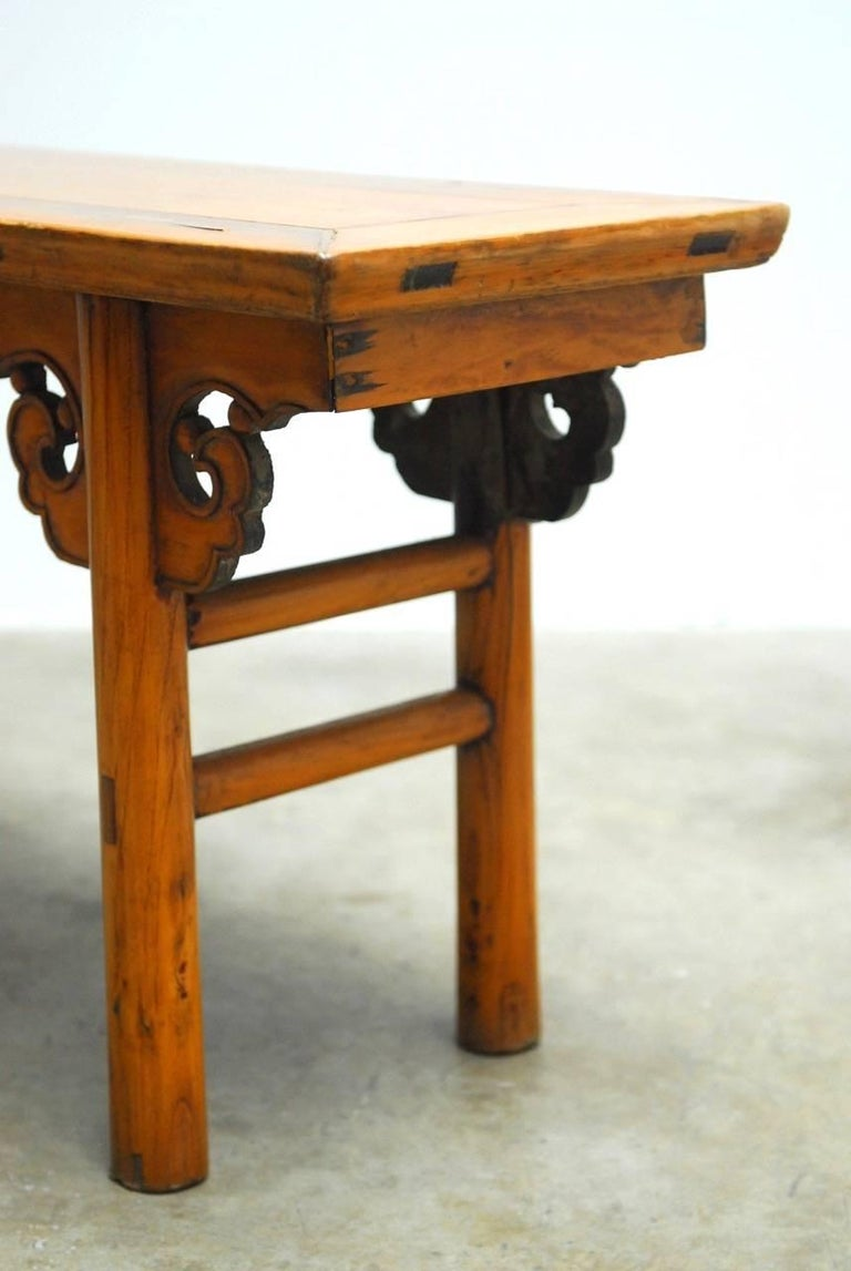 Th century chinese carved wooden bench for sale at stdibs