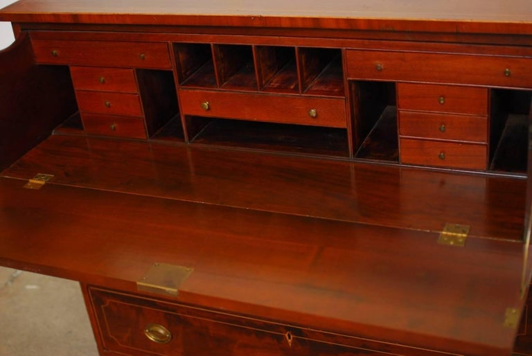 19th Century Regency Mahogany Butler S Desk Or Secretary