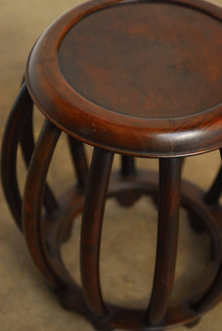 Chinese Ming Style Rosewood Garden Stool or Drinks Table at 1stdibs