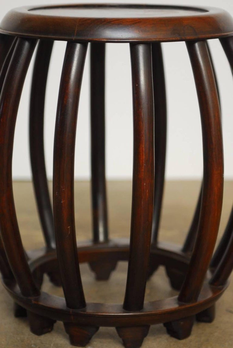 Chinese Ming Style Rosewood Garden Stool Or Drinks Table