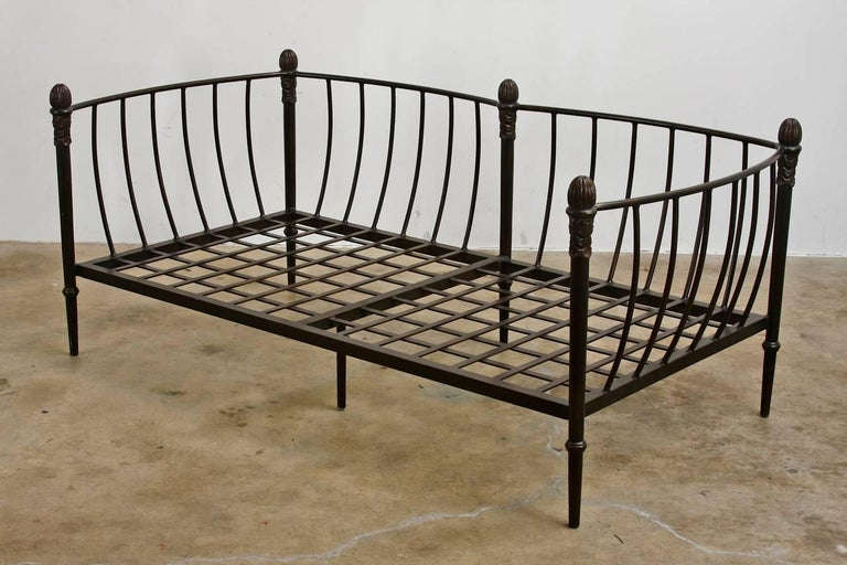 Michael Taylor Montecito Collection Iron Settee or Loveseat For Sale 2