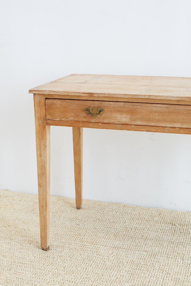 19th Century American Pine Writing Table Desk In Distressed Condition For Sale In Oakland, CA