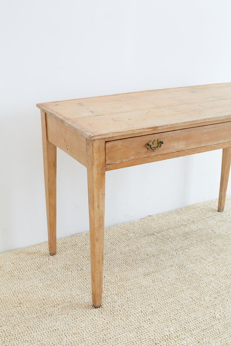 19th Century American Pine Writing Table Desk For Sale 1