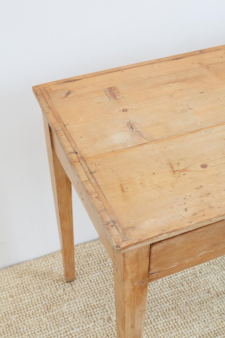 19th Century American Pine Writing Table Desk For Sale 2